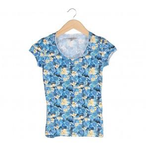 Zara Blue Floral T-Shirt