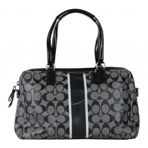 Coach Black Monogram Handbag