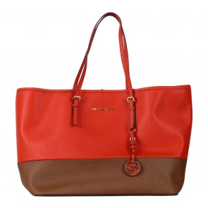 Michael Kors Red And Brown Handbag
