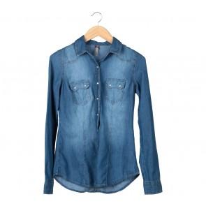 Stradivarius Dark Blue Shirt