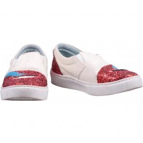 Chiara Ferragni Off White Glitter Argento Sneakers