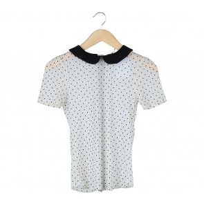 Zara Cream Polka Dot Blouse