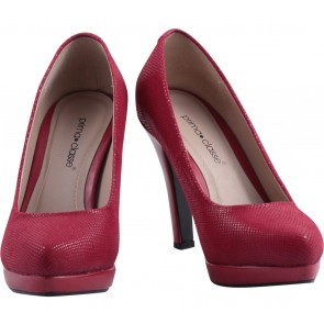 Prima Classe Red Platform Heels