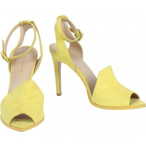 Zara Yellow Ankle Strap Heels