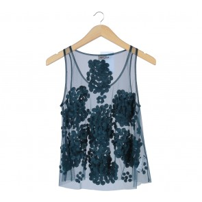 Asos Dark Green Applique Sleeveless