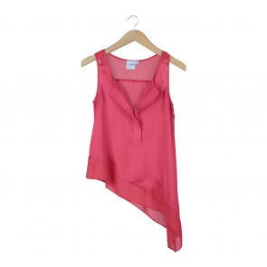 Asos Pink Asymmetric Sleeveless