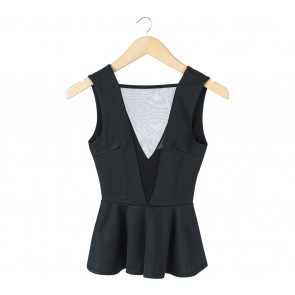 Miss Selfridge Black See Thrue Sleeveless