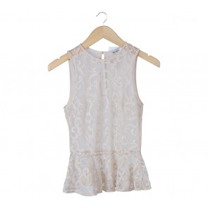 Miss Selfridge Cream Lace Insert Sleeveless