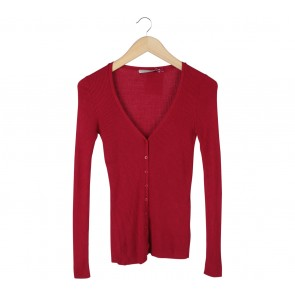 Stradivarius Red Cardigan