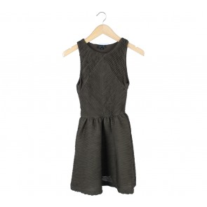 Topshop Dark Green Mini Dress