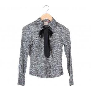 (X)SML Black Bowed Shirt