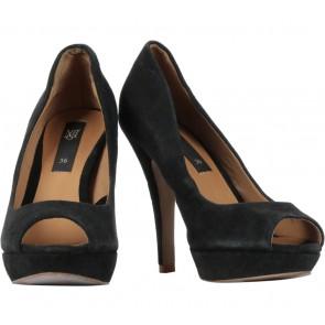 Mango Black Platform Heels