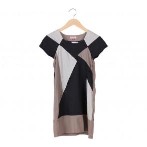 (X)SML Multi Colour Mozaic Mini Dress