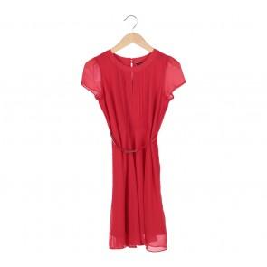 Dorothy Perkins Red Midi Dress