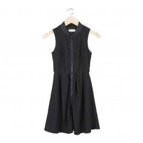 Love, Bonito Black Zippered Mini Dress