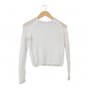 UNIQLO Off White Sheer Insert Sweater