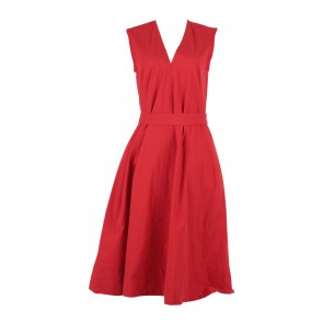UNIQLO Red Belted Midi Dress