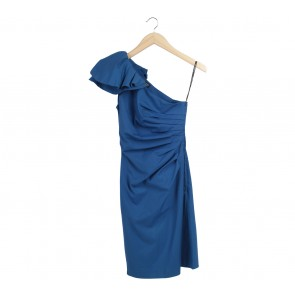 Spotlight Blue One Shoulder Midi Dress