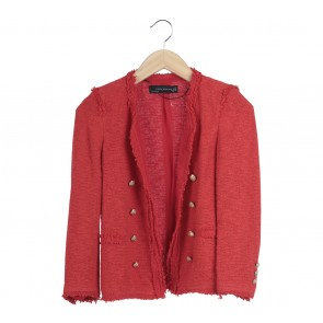 Zara Red Outerwear