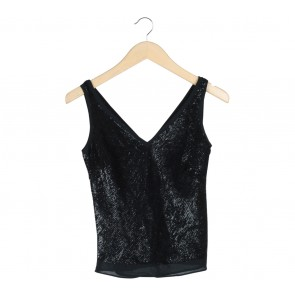 Banana Republic Black Sequin Sleeveless