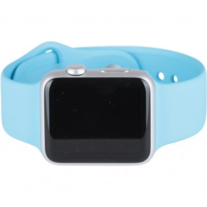 Apple Blue 42mm Silver Aluminum Case Sport Watch