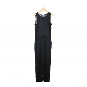 BCBG Black Back Lace Jumpsuit