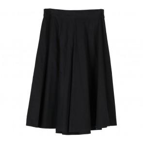 Cotton Ink Black Midi Skirt