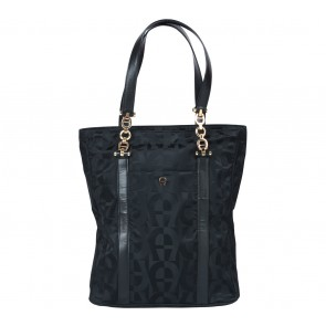 Aigner Black Monogram Shoulder Bag