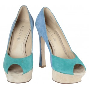 Aldo Blue And Green Platform Heels