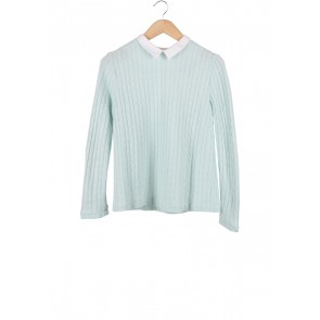 Argyle Oxford Turquoise And White Blouse