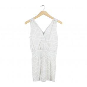 Armani Exchange Grey And White Patterned Jumpsuit