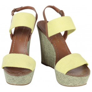 Charles & Keith Yellow Wedges