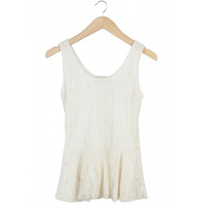Cream Lace Sleeveless