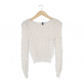 Divided Cream Fur Sweater