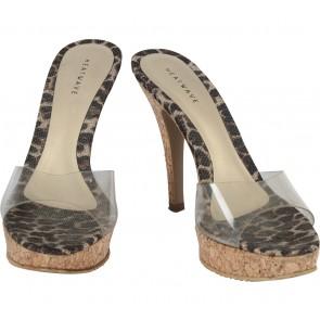 Heatwave Brown And Transparent Leopard Heels
