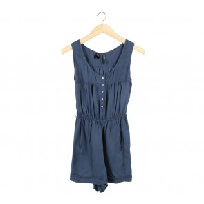 Mango Dark Blue Sleeveless Jumpsuit