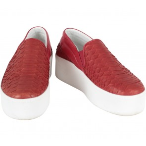 Marnova Red Snakeskin Sneakers