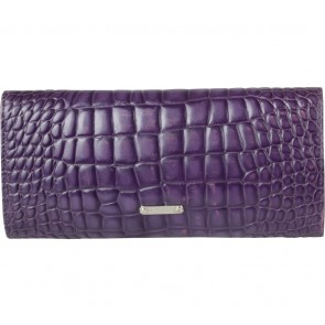 Michael Kors Purple Bow Embossed Leather Clutch