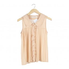 Peach Ruffle Sleeveless
