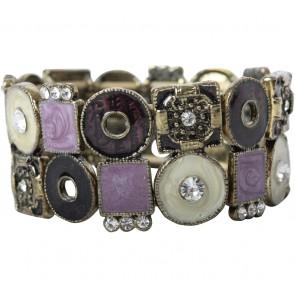 Purple And Cream Jewellery