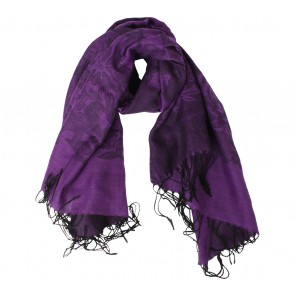 Purple Floral Scarf