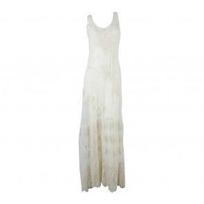Zara Cream Lace Long Dress