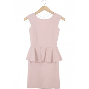 Zara Pink Peplum Mini Dress