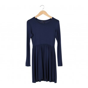 Body Talk Dark Blue Long Sleeve Mini Dress