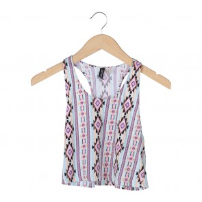 Divided Multi Colour Sleeveless
