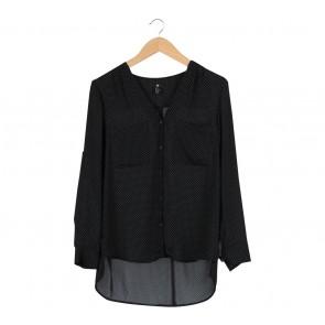 H&M Black Polka Dot Shirt