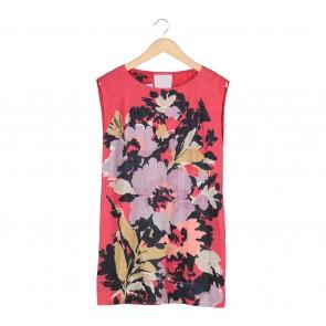 Mango Multi Colour Floral Midi Dress