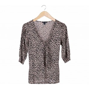 Banana Republic Brown Leopard Blouse