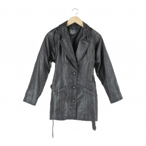 Golden Leather  Black Coat
