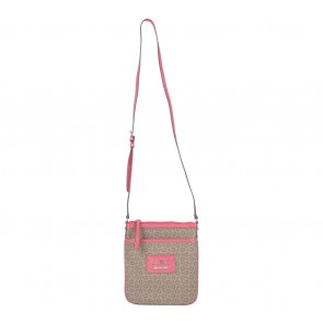 Guess Brown And Pink Sling Bag